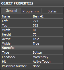 Editor window Object Properties General.png