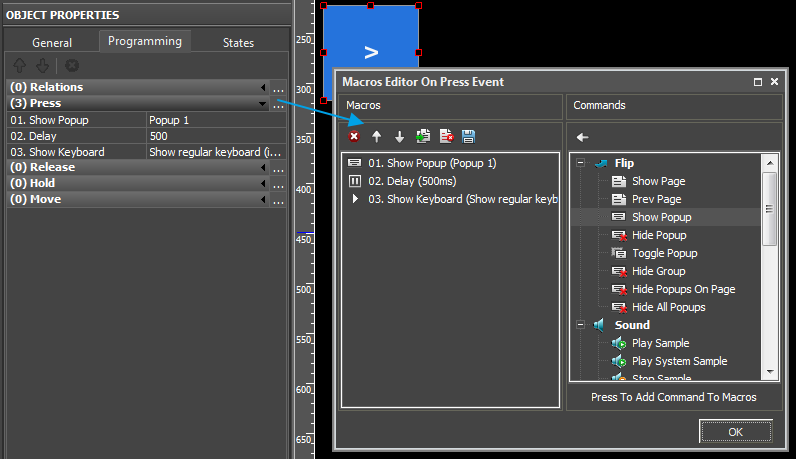 Editor examples of macros on press.png